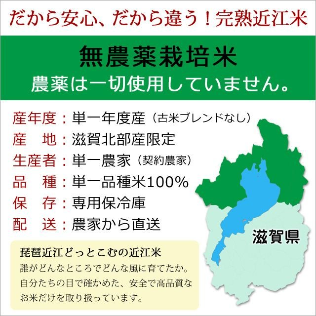 令和2年産 2020年産 米 お米 5kg 夢ごこち 無農薬 滋賀県産 吉田農園 白米 玄米 送料無料|biwaoumi|02