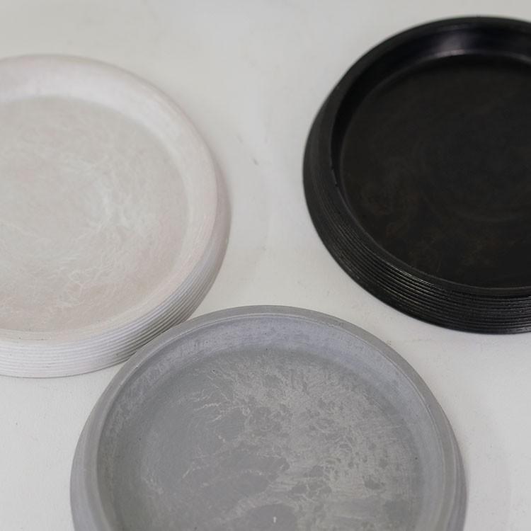ライン受皿 12cm 【サボテン/頑丈/おしゃれ/塊根植物/多肉/黒プラスチック鉢 】コーデックス biyori