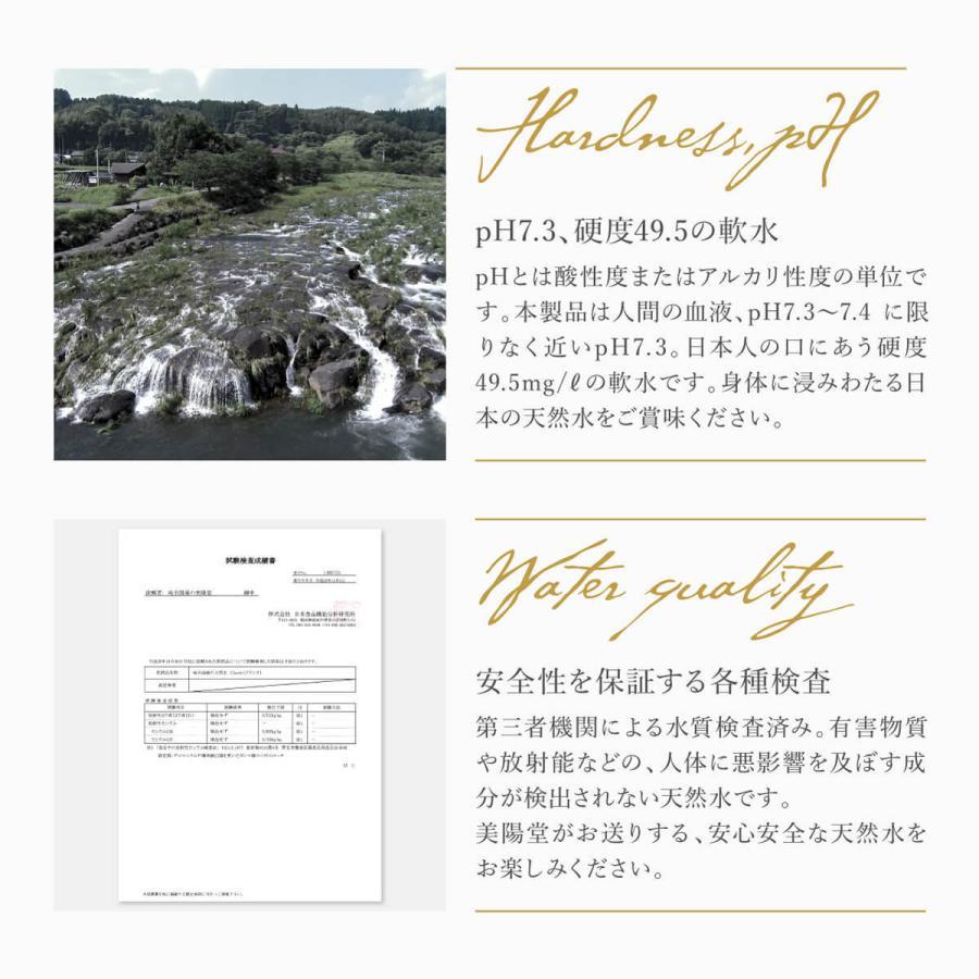 【365日出荷】美陽堂 ミネラルウォーター 2L×10本/1箱 熊本県菊池水源の天然水 天然シリカ50mg/L以上 シリカ水|biyoudou|04