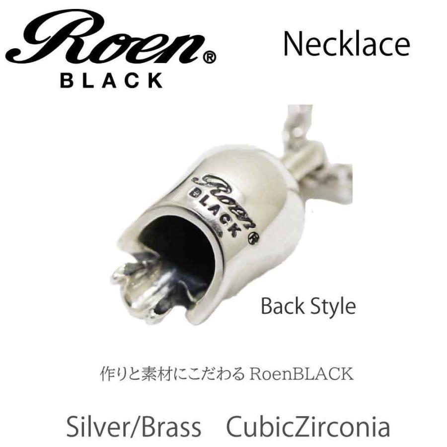 Roen Black ロエン アクセサリー メンズ ネックレス ペンダント スカル シルバー キュービック ジルコニア bj-direct 03