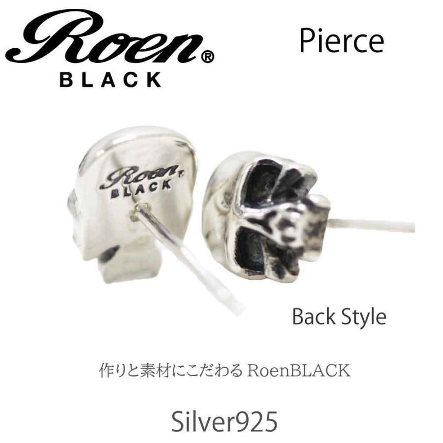 Roen Black ロエン アクセサリー メンズ ピアス スカル シルバー bj-direct 03