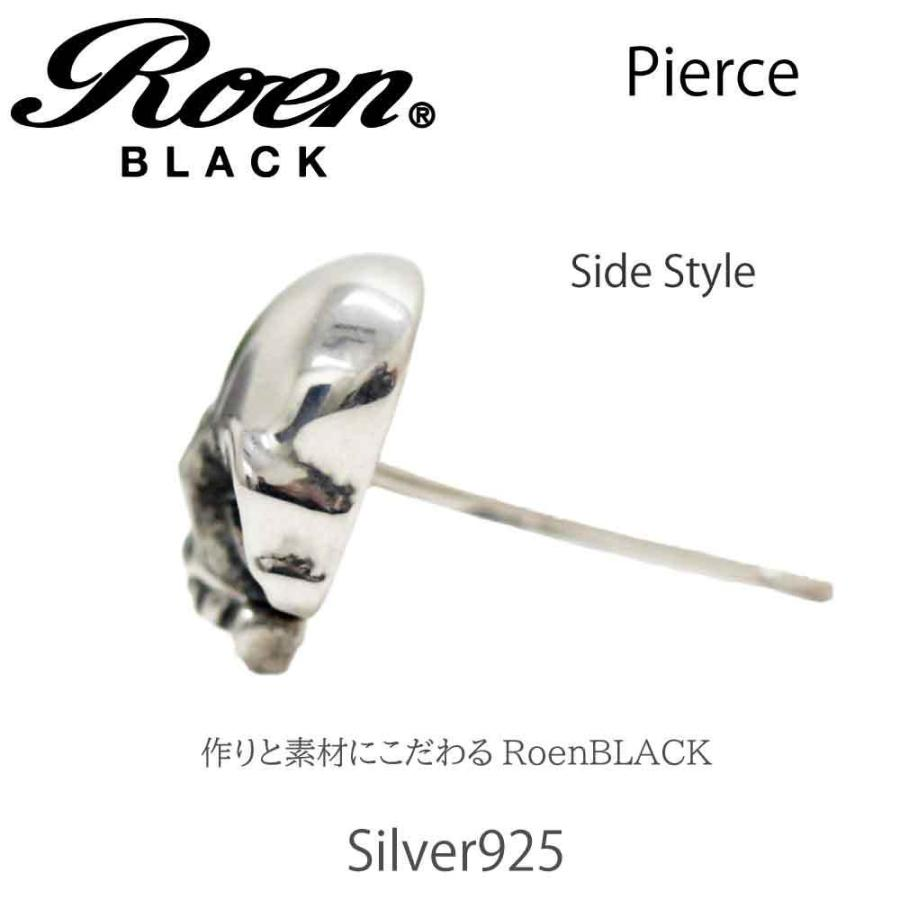 Roen Black ロエン アクセサリー メンズ ピアス スカル シルバー bj-direct 04
