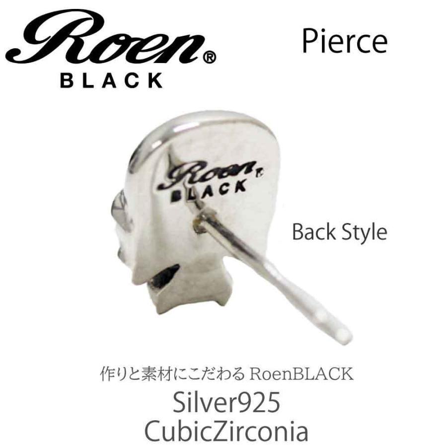 Roen Black ロエン アクセサリー メンズ ピアス スカル シルバー キュービック ジルコニア bj-direct 03