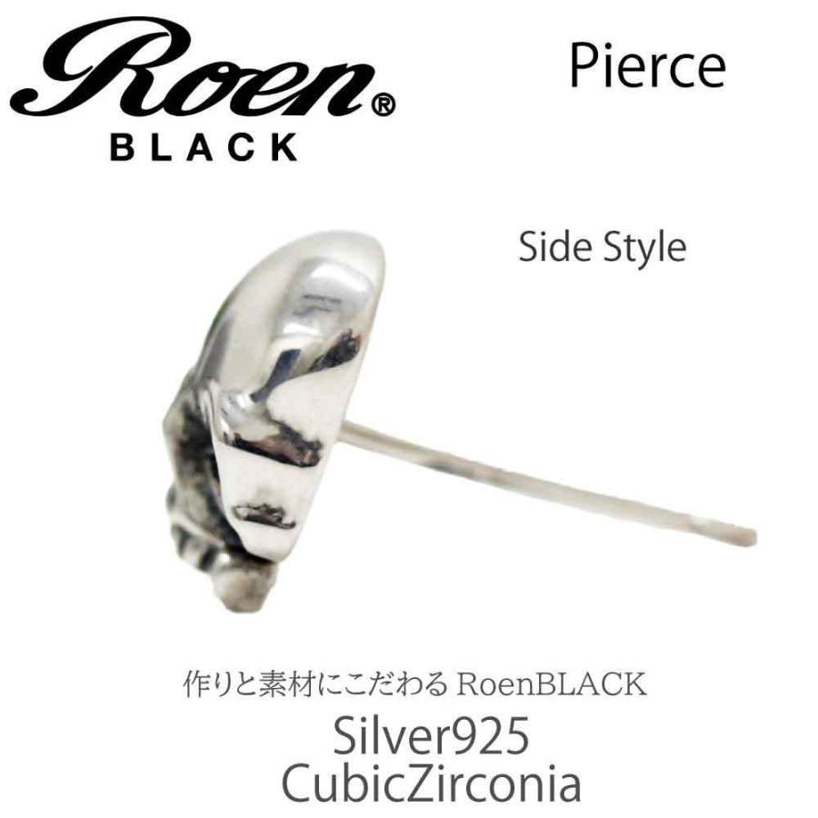 Roen Black ロエン アクセサリー メンズ ピアス スカル シルバー キュービック ジルコニア bj-direct 05