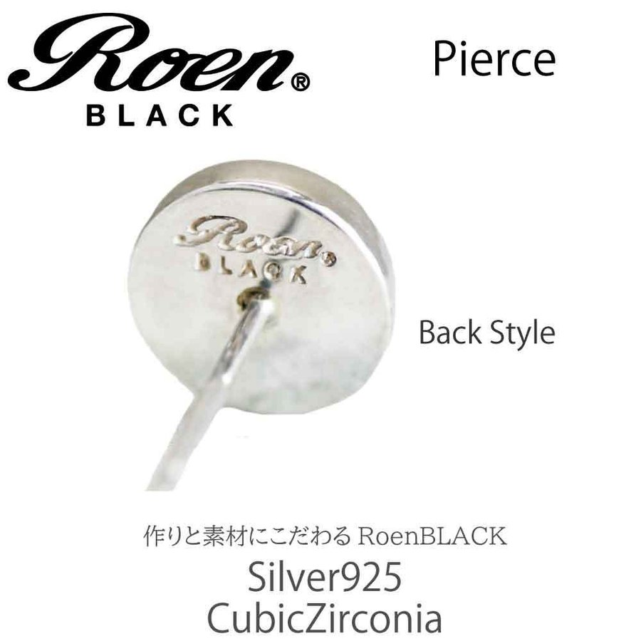 Roen Black ロエン アクセサリー メンズ ピアス シルバー キュービック ジルコニア bj-direct 03