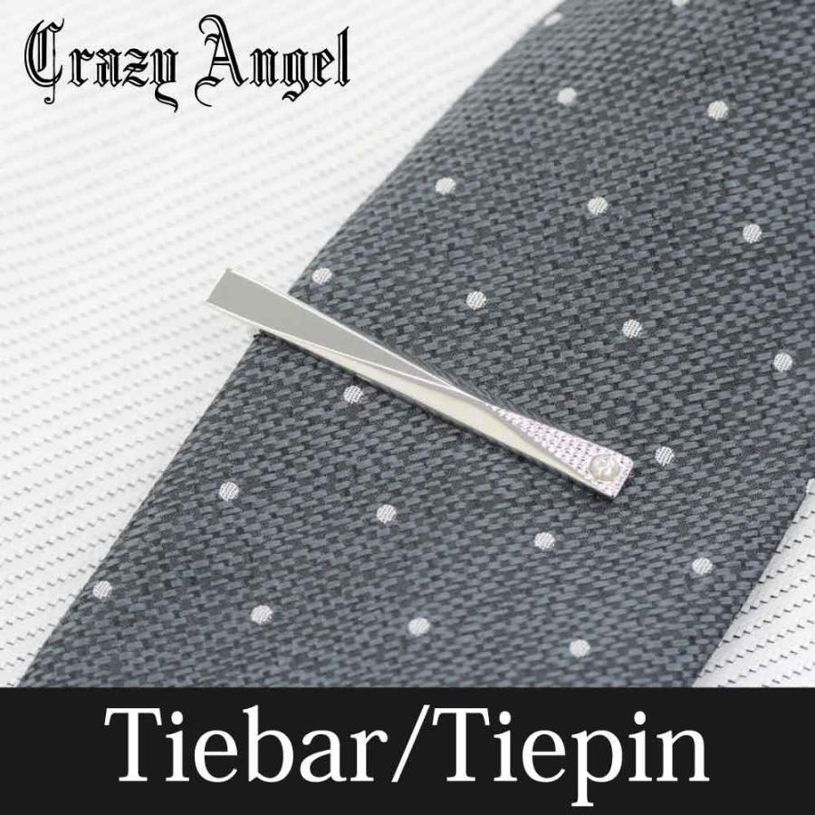 ネクタイピン タイバー タイピン アクセサリー メンズ ネクタイ ストーン キュービック ジルコニア Crazy Angel 就職祝い 結婚式 ギフト プレゼント CAT-001|bj-direct|02