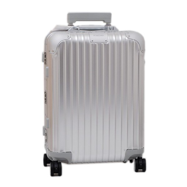 リモワ RIMOWA オリジナル キャビン ORIGINAL CABIN S キャリーオン 4輪 スーツケース シルバー 32L(3〜4泊向け) 機内持込可 [メンズ] [レディース] 92552004