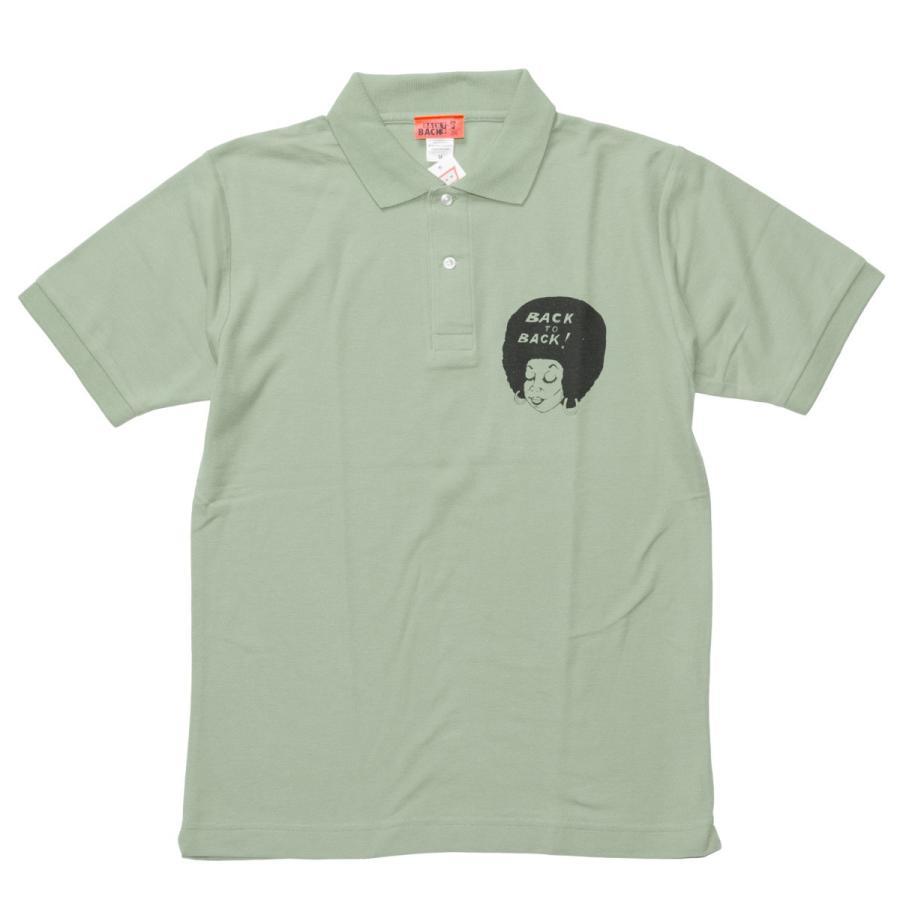 Back to Back バック・トゥ・バック オリジナル・ポロシャツ セージグリーン bk2bk 02