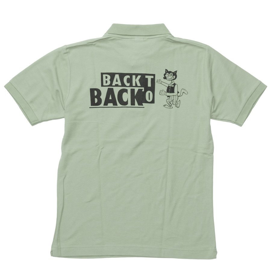 Back to Back バック・トゥ・バック オリジナル・ポロシャツ セージグリーン bk2bk 03