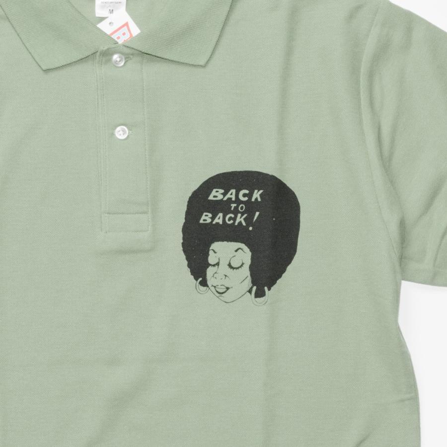 Back to Back バック・トゥ・バック オリジナル・ポロシャツ セージグリーン bk2bk 04