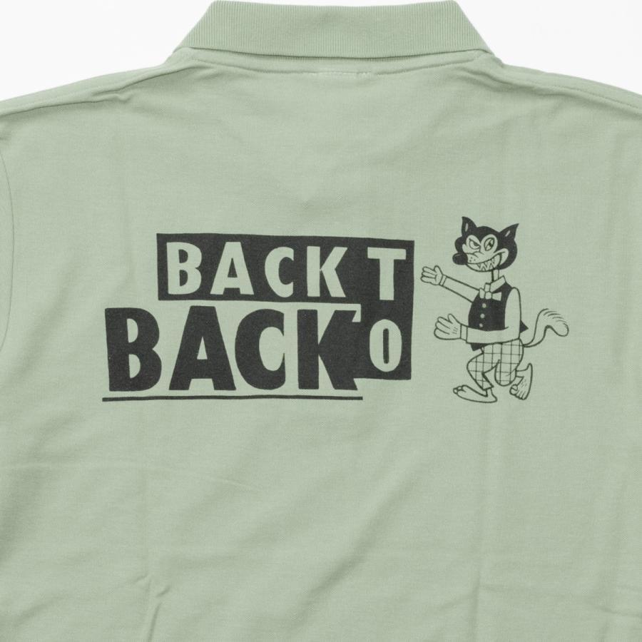 Back to Back バック・トゥ・バック オリジナル・ポロシャツ セージグリーン bk2bk 05