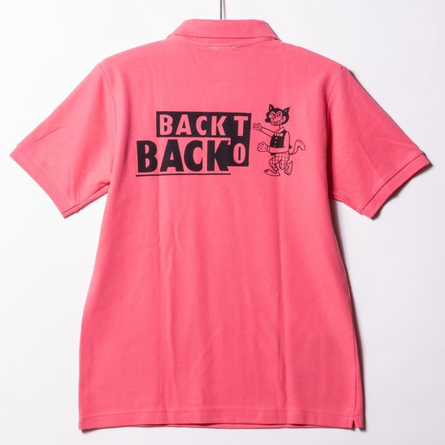 Back to Back バック・トゥ・バック オリジナル・ポケットポロシャツ ウルフ ピンク|bk2bk|03