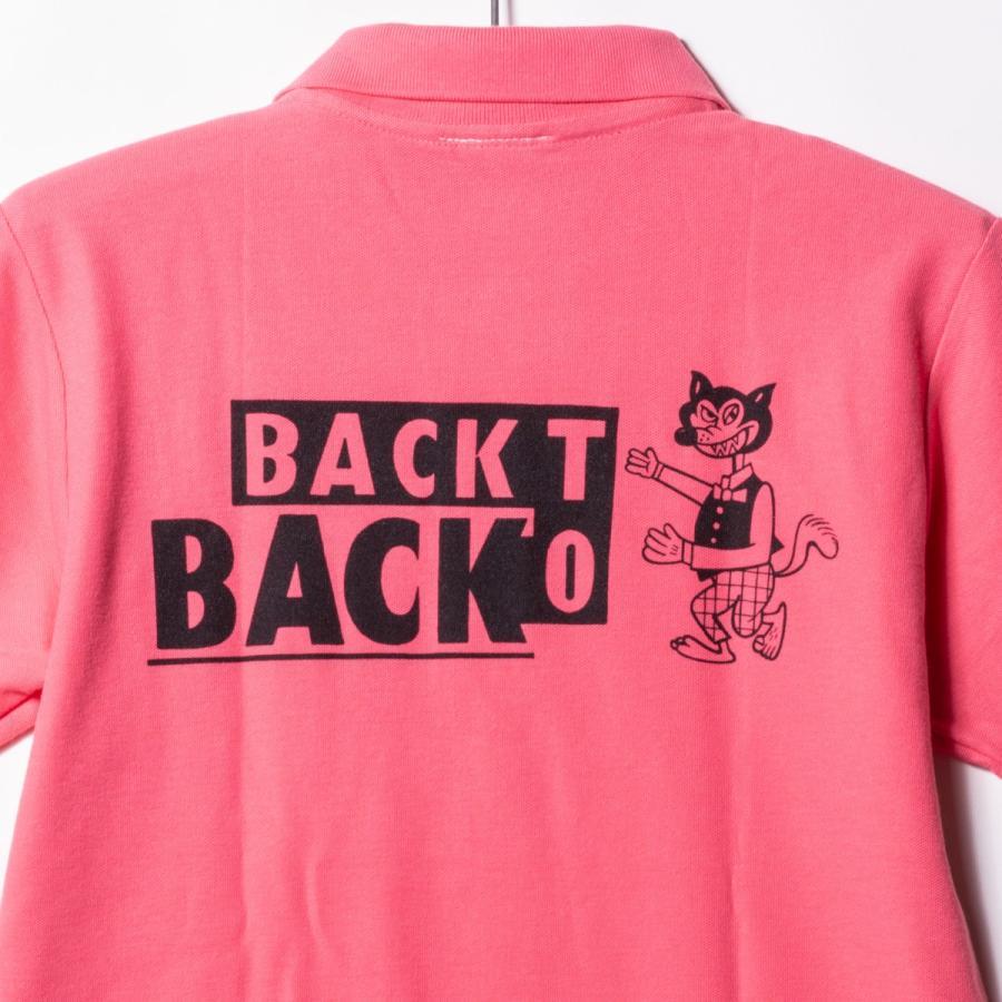 Back to Back バック・トゥ・バック オリジナル・ポケットポロシャツ ウルフ ピンク|bk2bk|06