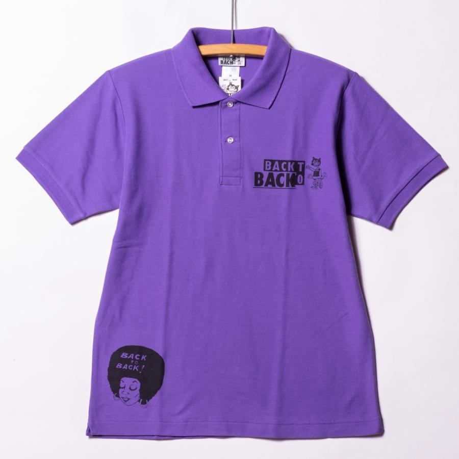Back to Back バック・トゥ・バック オリジナル・ポロシャツ ウルフ パープル bk2bk 02