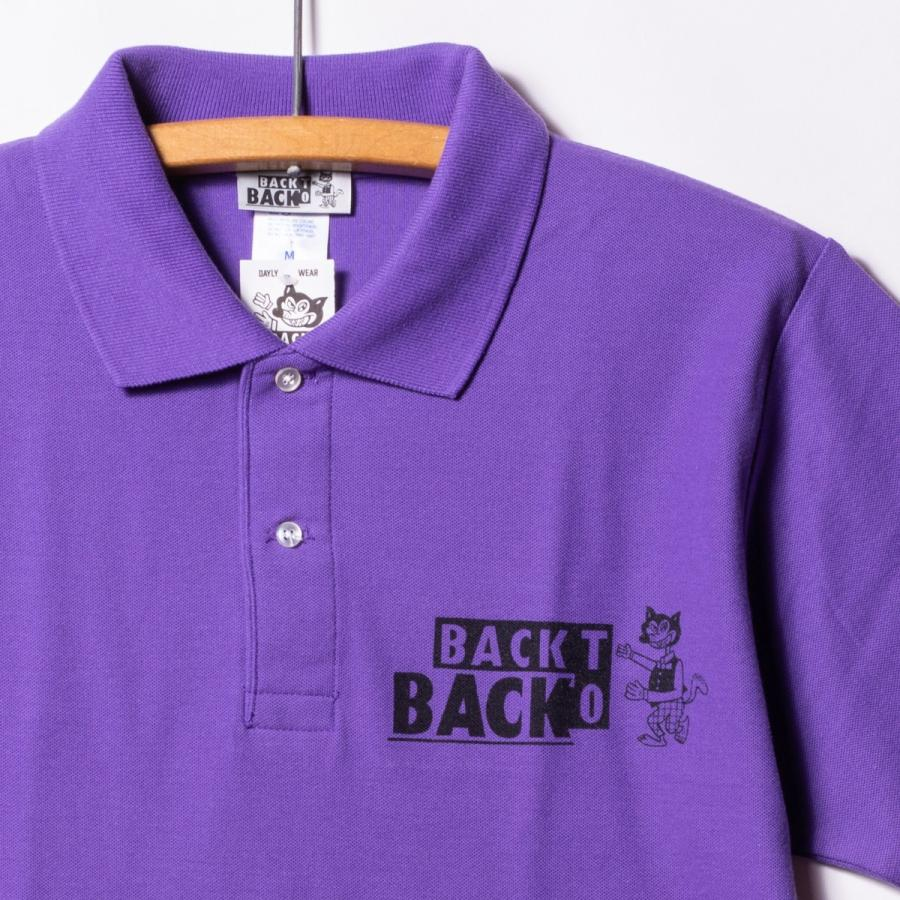 Back to Back バック・トゥ・バック オリジナル・ポロシャツ ウルフ パープル bk2bk 04