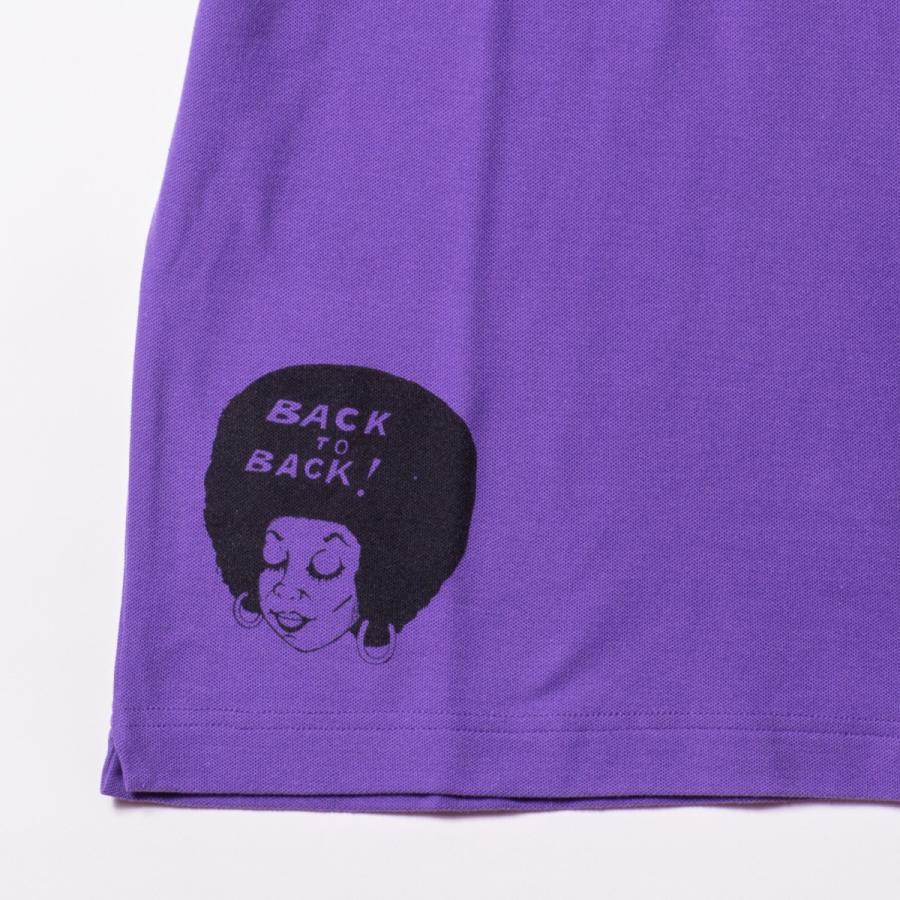 Back to Back バック・トゥ・バック オリジナル・ポロシャツ ウルフ パープル bk2bk 05