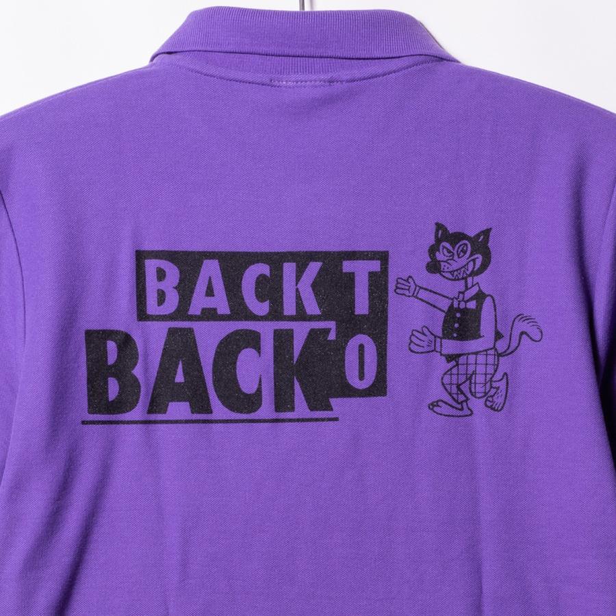 Back to Back バック・トゥ・バック オリジナル・ポロシャツ ウルフ パープル bk2bk 06