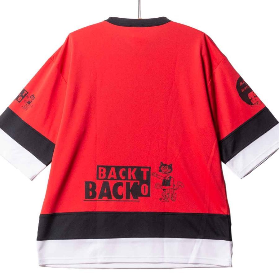 Back to Back バック・トゥ・バック オリジナル・ホッケーTシャツ アフロ&ウルフ レッド|bk2bk|03