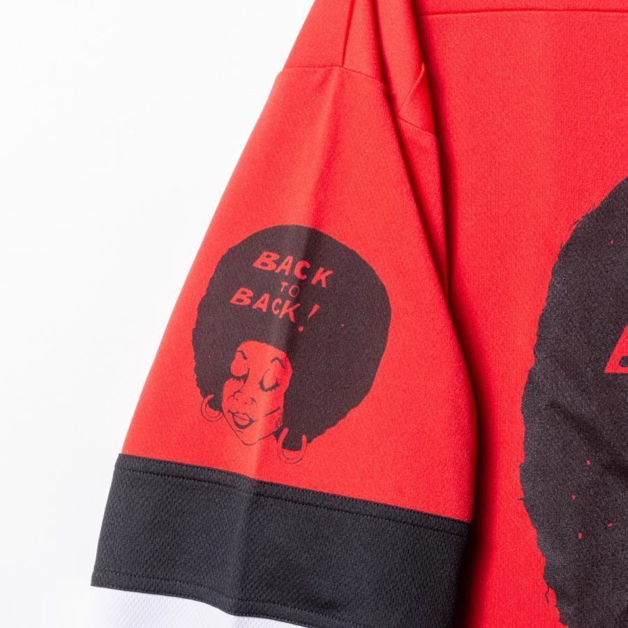 Back to Back バック・トゥ・バック オリジナル・ホッケーTシャツ アフロ&ウルフ レッド|bk2bk|05