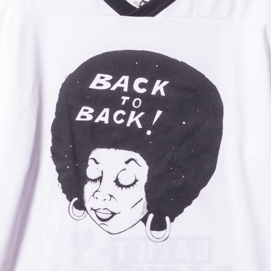 Back to Back バック・トゥ・バック オリジナル・ホッケーTシャツ アフロ&ウルフ ホワイト bk2bk 04