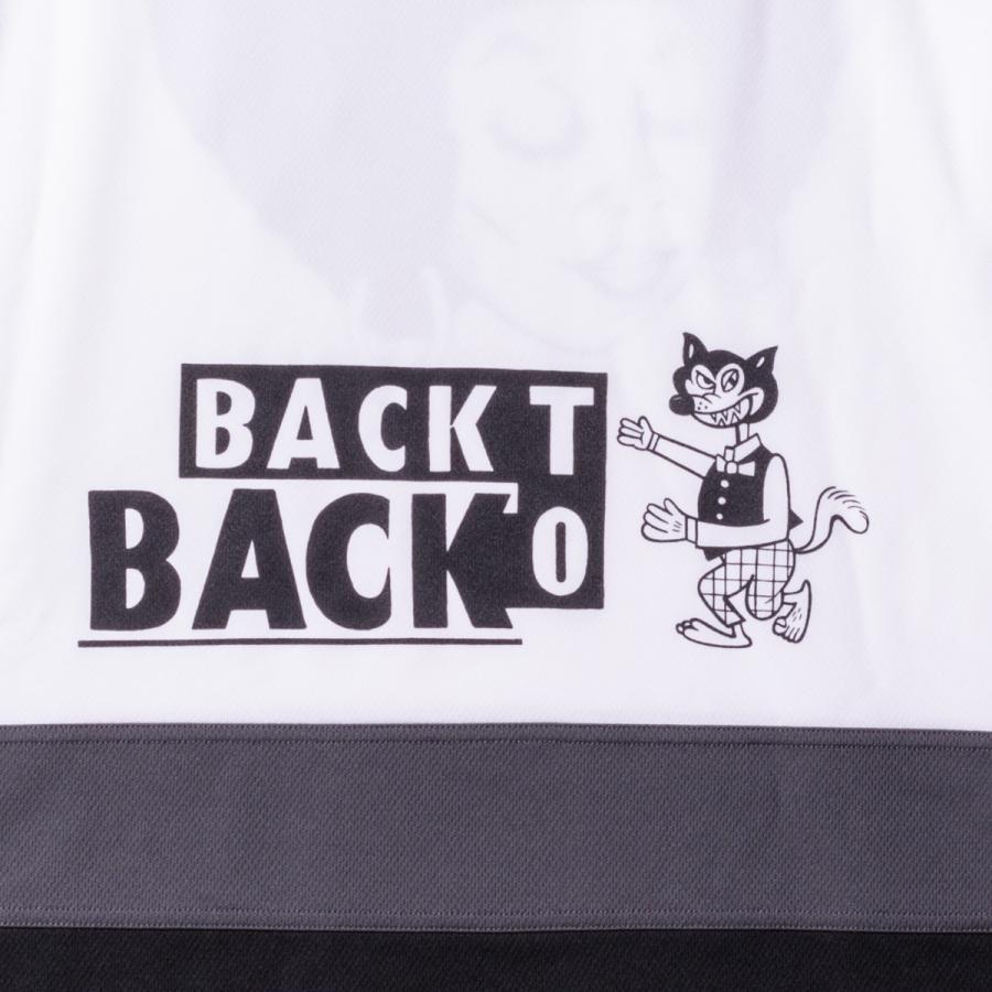 Back to Back バック・トゥ・バック オリジナル・ホッケーTシャツ アフロ&ウルフ ホワイト bk2bk 05