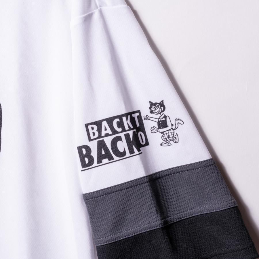 Back to Back バック・トゥ・バック オリジナル・ホッケーTシャツ アフロ&ウルフ ホワイト bk2bk 06