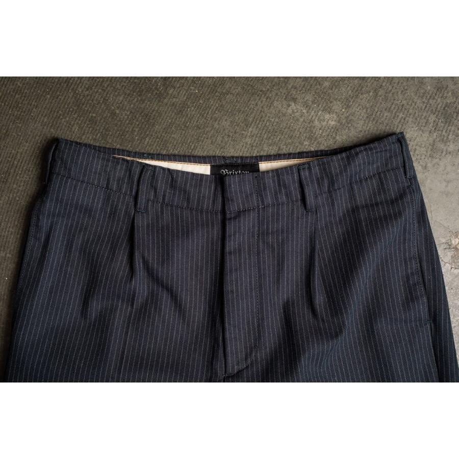 ブリクストン レジェント トラウザーパンツ Brixton REGENT TROUSER PANT #04081 ネイビーストライプ スラックス リラックスフィット [正規品]|bk2bk|08