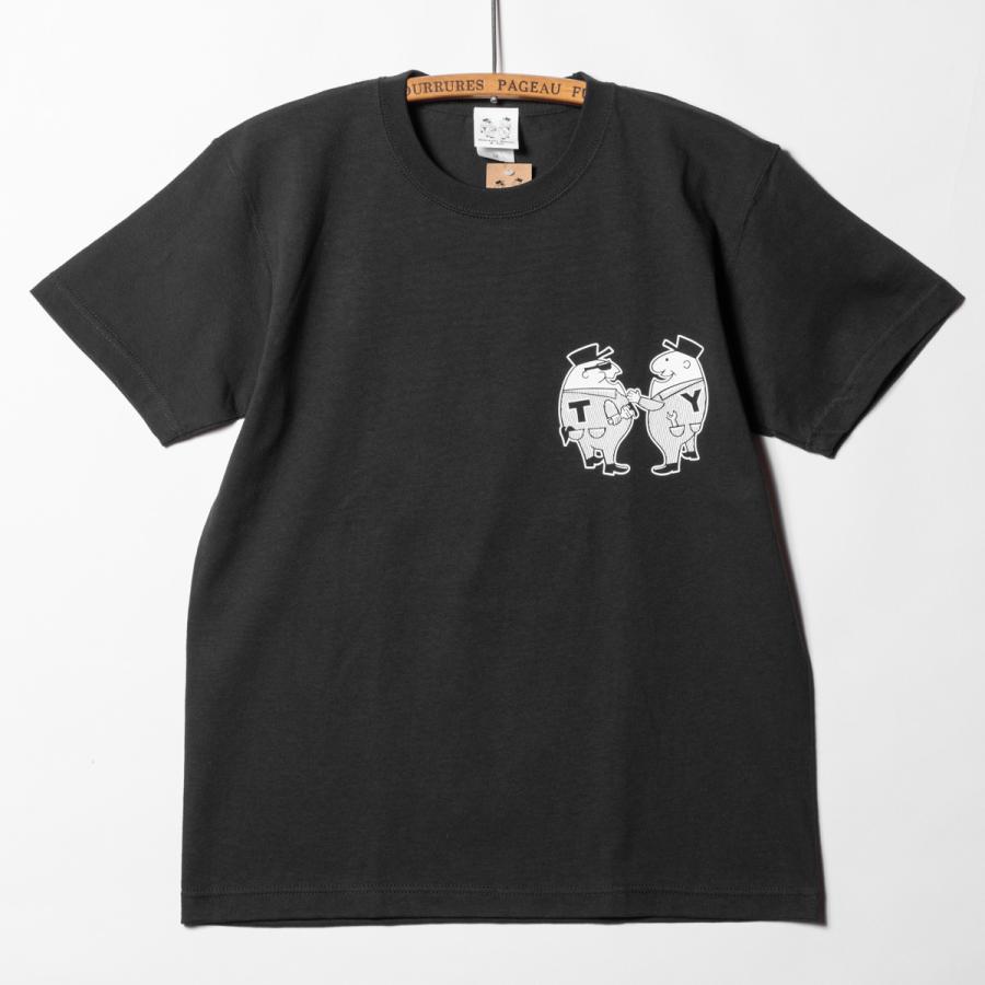 "[SIRANO BROS.] 7.1oz T-shirts ""Mr.T & Mr.Y"" ブラック Tシャツ ヘビーウェイト シラノブロス SUGI SACK|bk2bk|02"