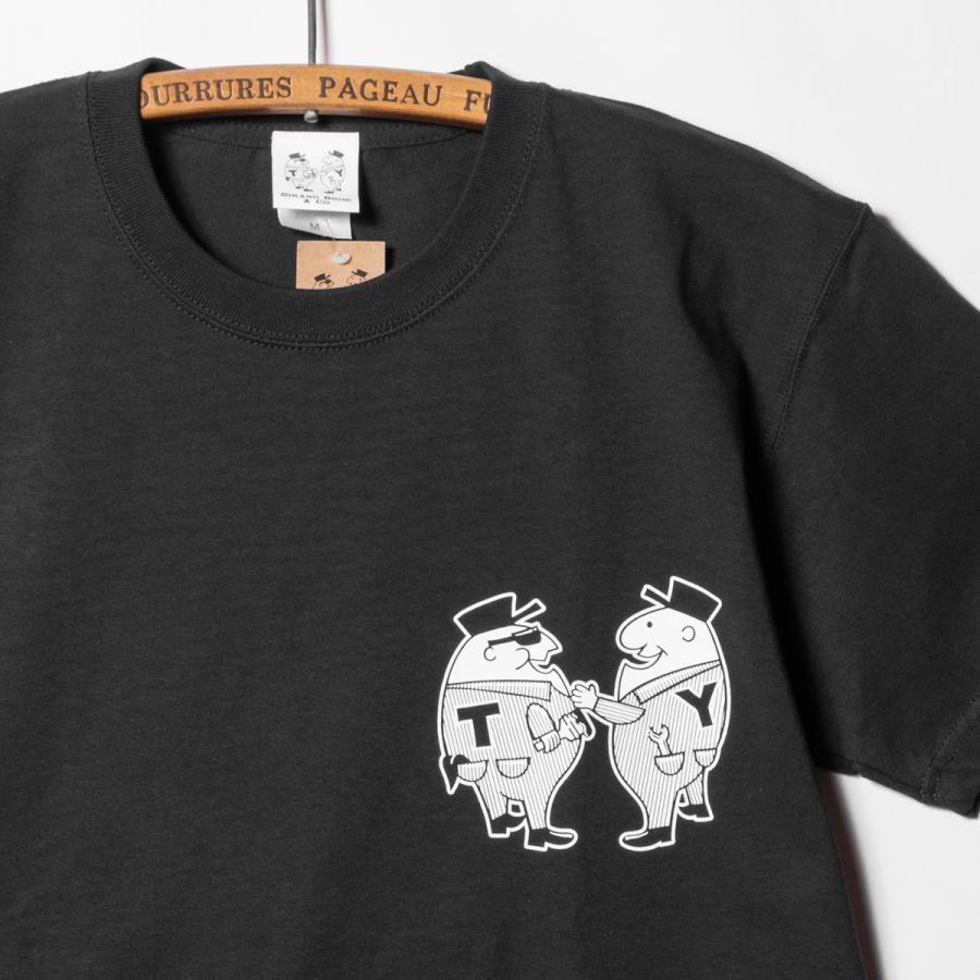 "[SIRANO BROS.] 7.1oz T-shirts ""Mr.T & Mr.Y"" ブラック Tシャツ ヘビーウェイト シラノブロス SUGI SACK|bk2bk|04"