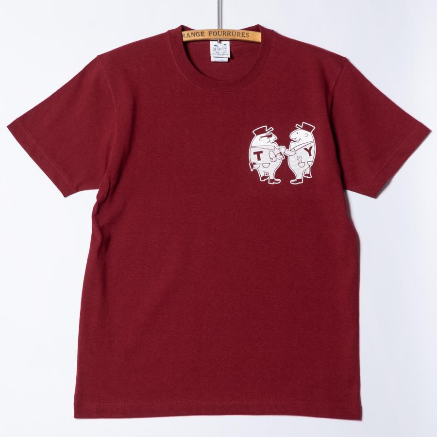 "[SIRANO BROS.] 7.1oz T-shirts ""Mr.T & Mr.Y"" バーガンディ Tシャツ ヘビーウェイト シラノブロス SUGI SACK bk2bk 02"