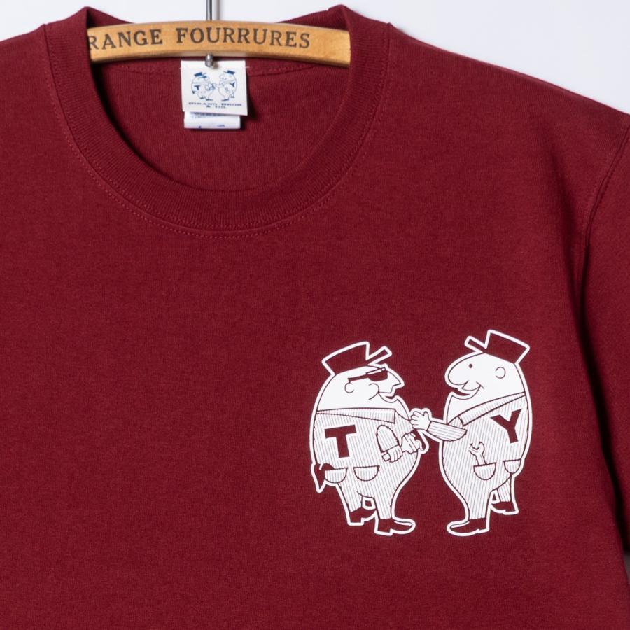 "[SIRANO BROS.] 7.1oz T-shirts ""Mr.T & Mr.Y"" バーガンディ Tシャツ ヘビーウェイト シラノブロス SUGI SACK bk2bk 04"