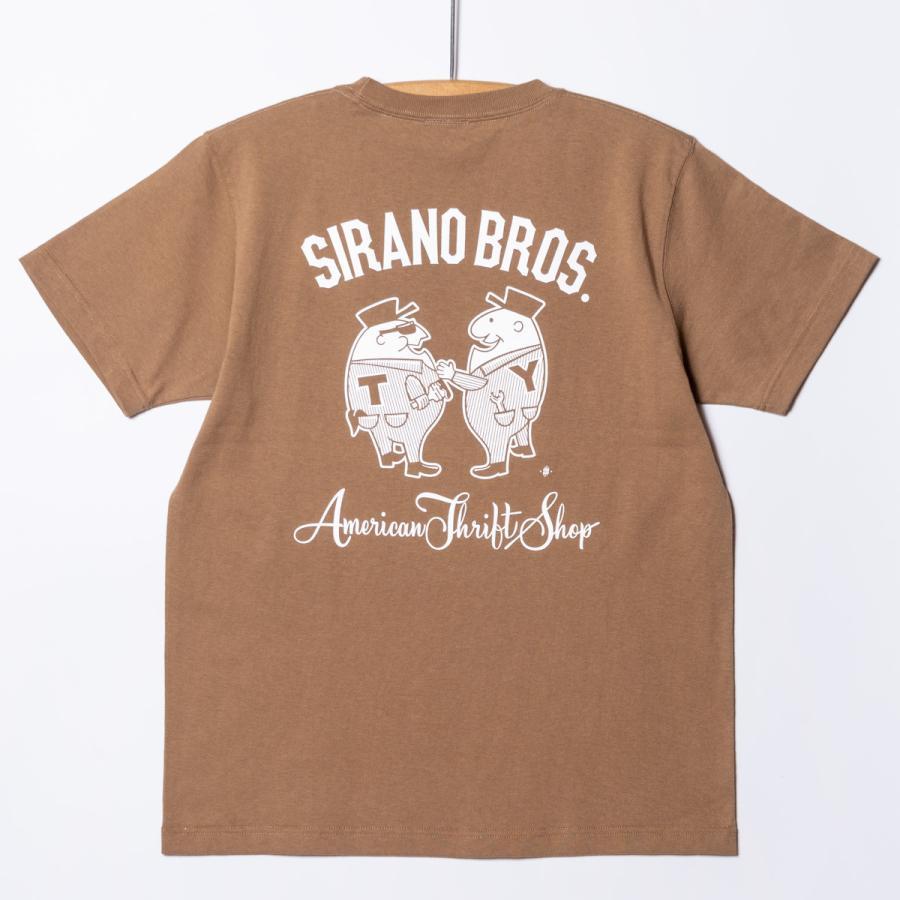 "[SIRANO BROS.] 7.1oz T-shirts ""Mr.T & Mr.Y"" キャメル Tシャツ ヘビーウェイト シラノブロス SUGI SACK|bk2bk"