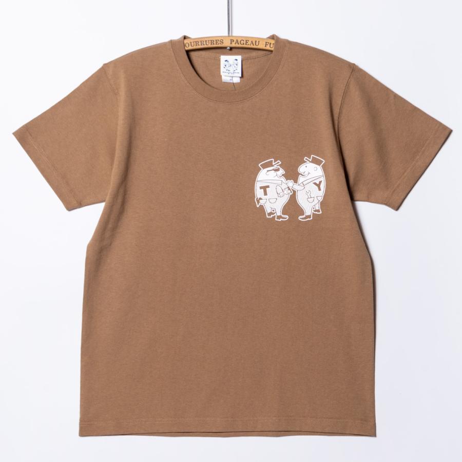 "[SIRANO BROS.] 7.1oz T-shirts ""Mr.T & Mr.Y"" キャメル Tシャツ ヘビーウェイト シラノブロス SUGI SACK|bk2bk|02"