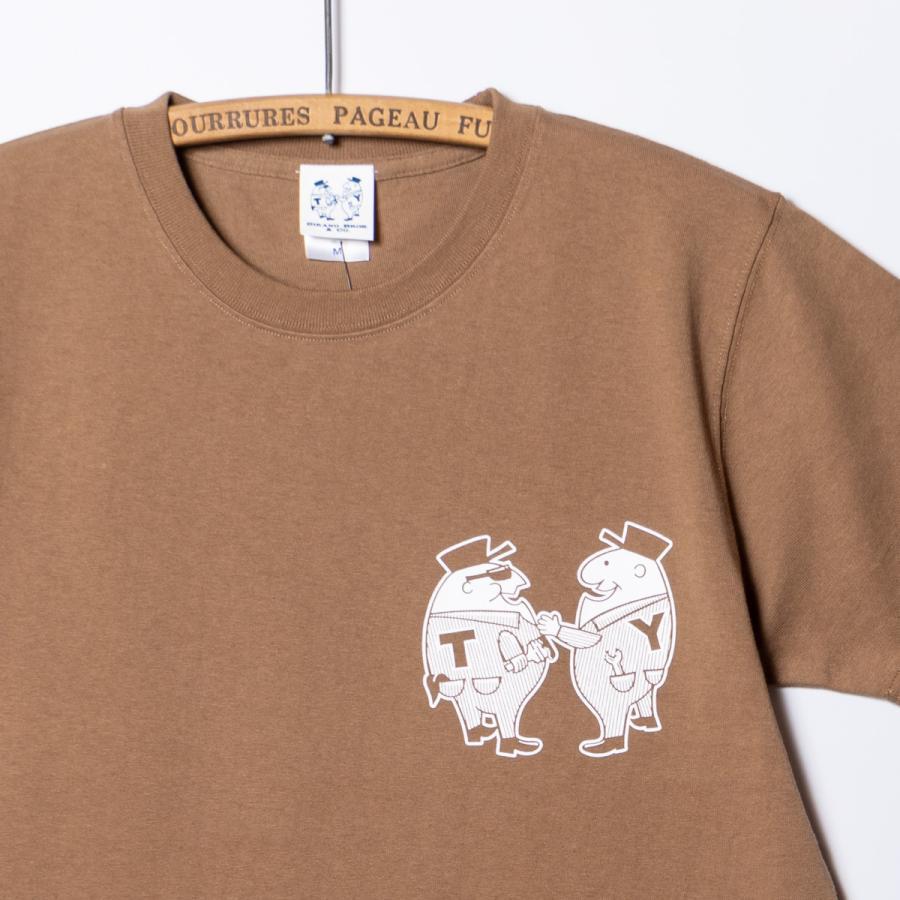 "[SIRANO BROS.] 7.1oz T-shirts ""Mr.T & Mr.Y"" キャメル Tシャツ ヘビーウェイト シラノブロス SUGI SACK|bk2bk|03"