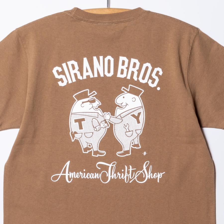 "[SIRANO BROS.] 7.1oz T-shirts ""Mr.T & Mr.Y"" キャメル Tシャツ ヘビーウェイト シラノブロス SUGI SACK|bk2bk|04"
