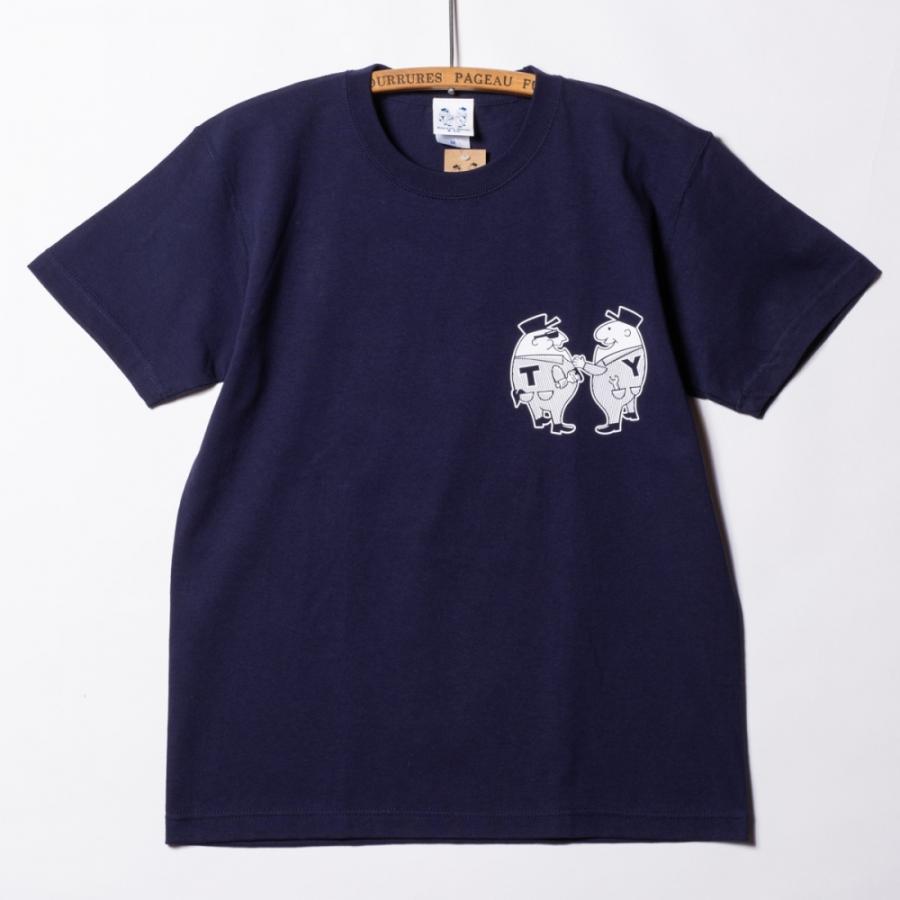 "[SIRANO BROS.] 7.1oz T-shirts ""Mr.T & Mr.Y"" ネイビー Tシャツ ヘビーウェイト シラノブロス SUGI SACK|bk2bk|02"