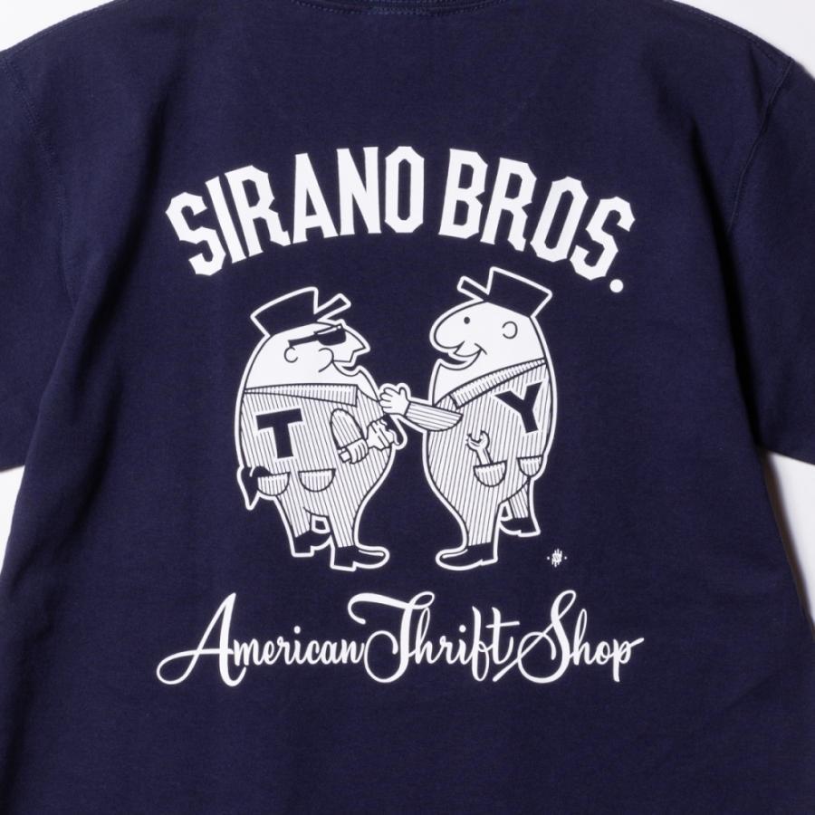 "[SIRANO BROS.] 7.1oz T-shirts ""Mr.T & Mr.Y"" ネイビー Tシャツ ヘビーウェイト シラノブロス SUGI SACK|bk2bk|03"