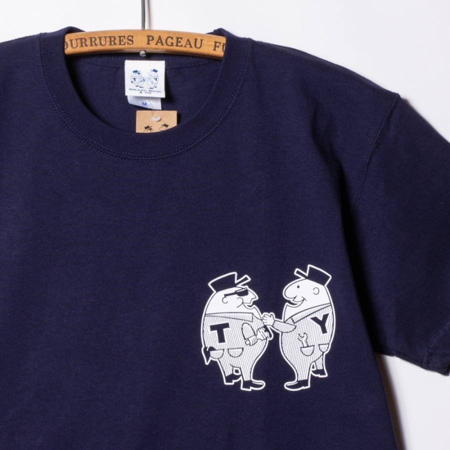 "[SIRANO BROS.] 7.1oz T-shirts ""Mr.T & Mr.Y"" ネイビー Tシャツ ヘビーウェイト シラノブロス SUGI SACK|bk2bk|04"