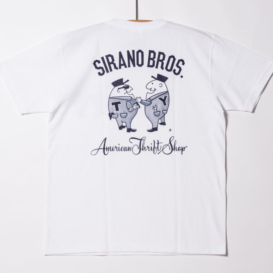 "[SIRANO BROS.] 7.1oz T-shirts ""Mr.T & Mr.Y"" ホワイト Tシャツ ヘビーウェイト シラノブロス SUGI SACK|bk2bk"