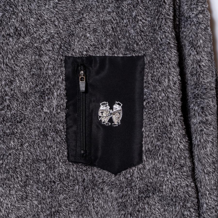 "[SIRANO BROS.] Boa Pullover Big Silhouette ""mini Mr.T&Mr.Y"" グレー ボア・プルオーバー ビッグシルエット シラノブロス bk2bk 04"