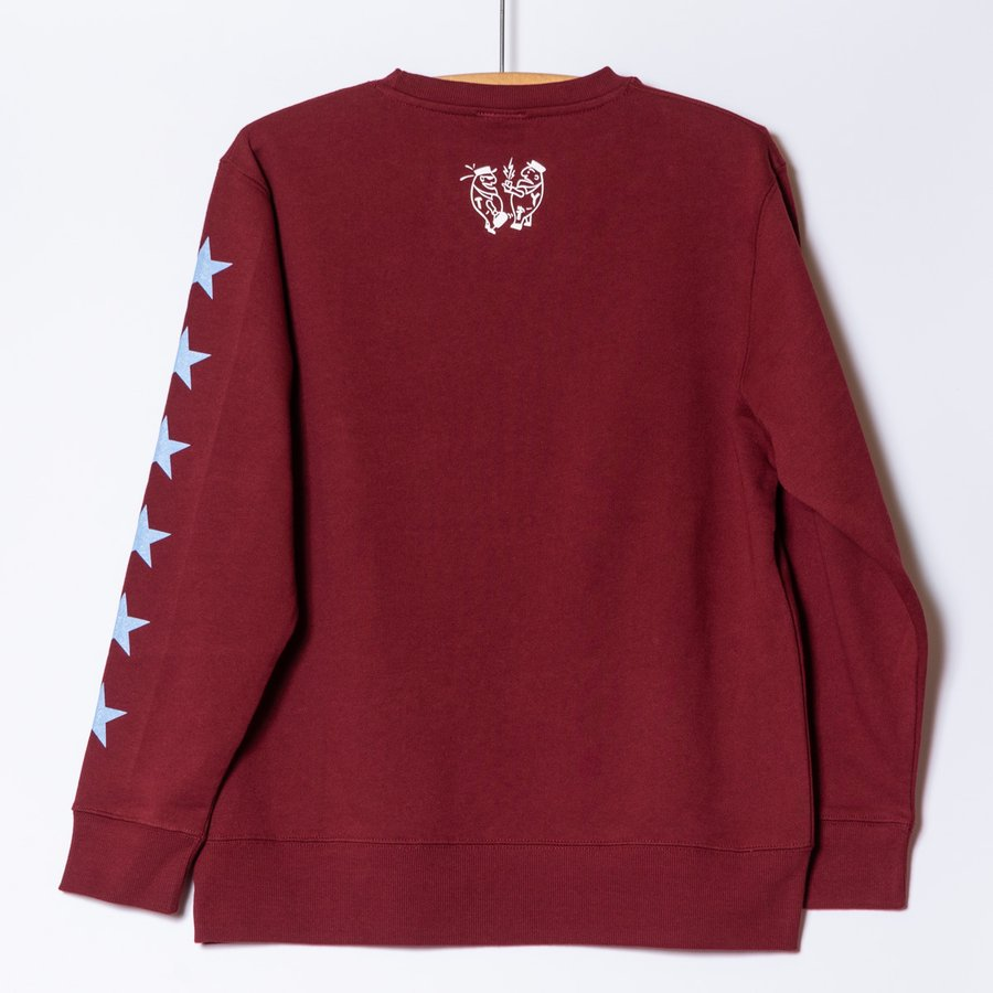 "[SIRANO BROS.] 9.3oz Crewneck Sweatshirts ""Better Call Sibro"" バーガンディ 裏パイル スウェットシャツ シラノブロス OUT SIDE DESINGS|bk2bk|02"