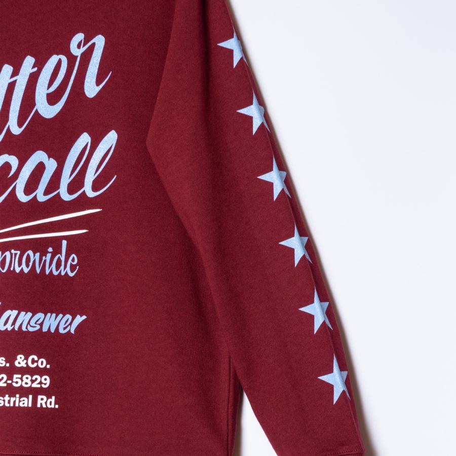 "[SIRANO BROS.] 9.3oz Crewneck Sweatshirts ""Better Call Sibro"" バーガンディ 裏パイル スウェットシャツ シラノブロス OUT SIDE DESINGS|bk2bk|05"