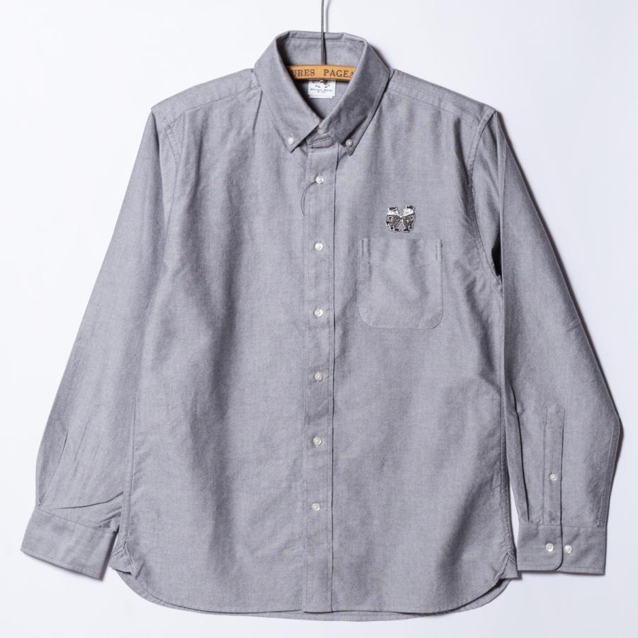 "[SIRANO BROS.] Longsleeve B.D.Shirts ""mini Mr.T&Mr.Y"" Gray グレー 長袖ボタンダウンシャツ シラノブロス bk2bk"