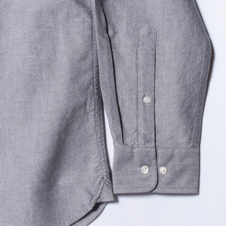 "[SIRANO BROS.] Longsleeve B.D.Shirts ""mini Mr.T&Mr.Y"" Gray グレー 長袖ボタンダウンシャツ シラノブロス bk2bk 04"