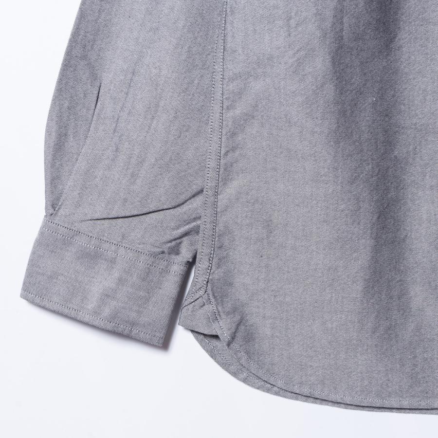 "[SIRANO BROS.] Longsleeve B.D.Shirts ""mini Mr.T&Mr.Y"" Gray グレー 長袖ボタンダウンシャツ シラノブロス bk2bk 06"