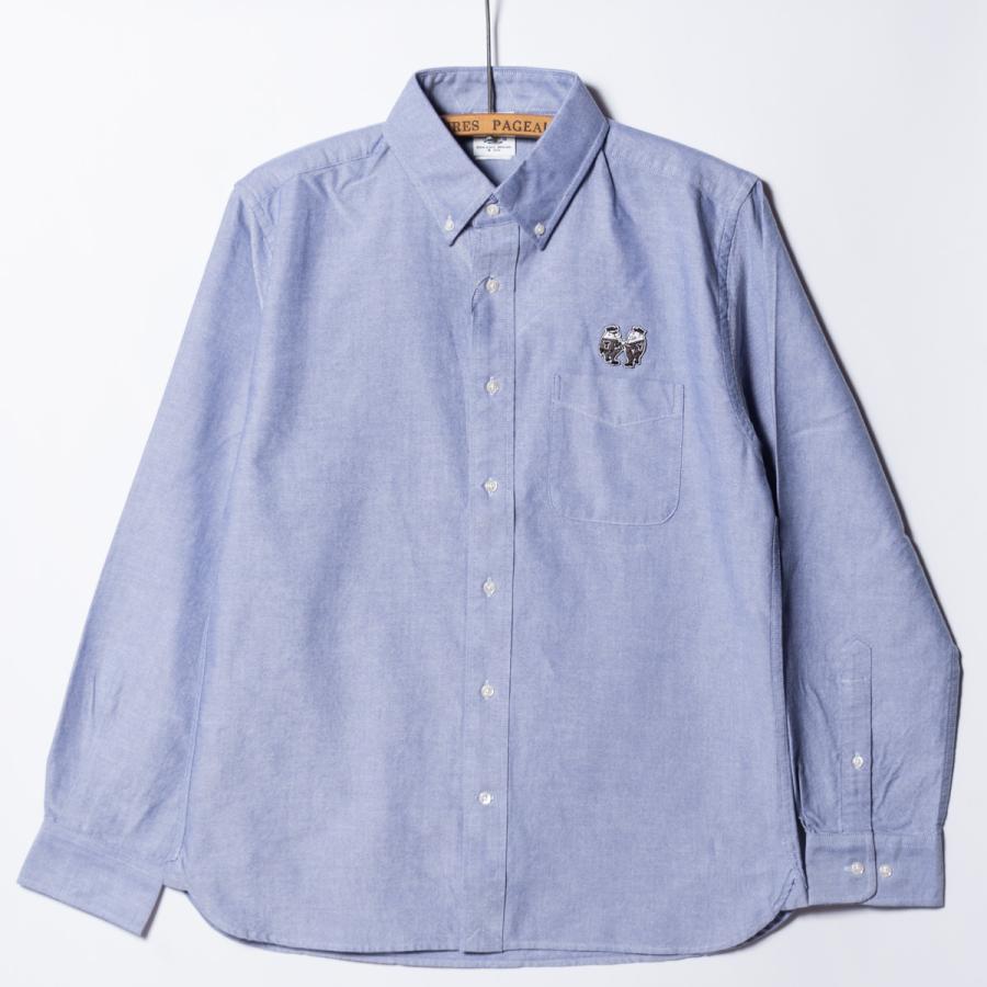 "[SIRANO BROS.] Longsleeve B.D.Shirts ""mini Mr.T&Mr.Y"" LightBlue ライトブルー 長袖ボタンダウンシャツ シラノブロス bk2bk"