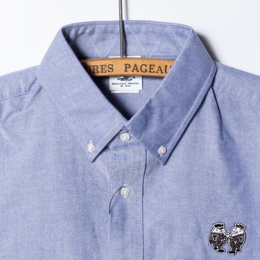 "[SIRANO BROS.] Longsleeve B.D.Shirts ""mini Mr.T&Mr.Y"" LightBlue ライトブルー 長袖ボタンダウンシャツ シラノブロス bk2bk 03"