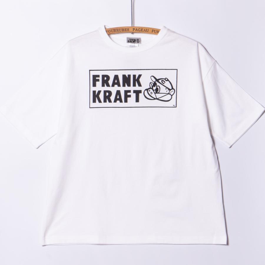 "[Back to Back] 5.6oz Big Silhouette T-shirts ""FRANK KRAFT"" ホワイト RAT HOLE TAT2  ビッグシルエット|bk2bk"
