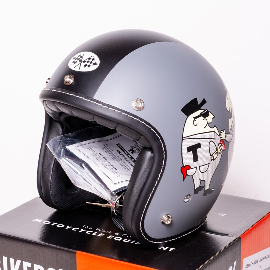 "SIRANO BROS. MOTORCYCLE EQUIPMENT - 3/4 OPEN FACE MOTORCYCLE HELMET ""Mr.T & Mr.Y"" シラノブロス|bk2bk"