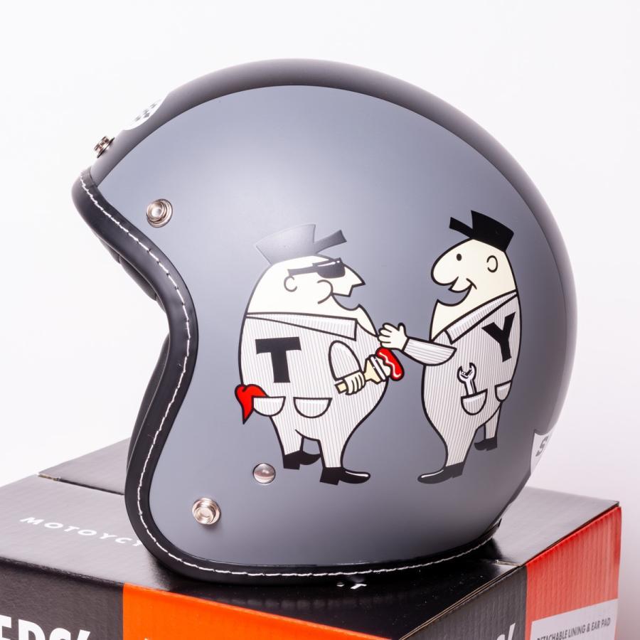 "SIRANO BROS. MOTORCYCLE EQUIPMENT - 3/4 OPEN FACE MOTORCYCLE HELMET ""Mr.T & Mr.Y"" シラノブロス|bk2bk|03"